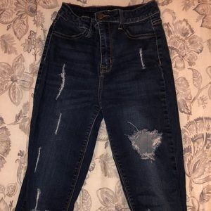 Fashion Nova Distressed Skinny Jeans